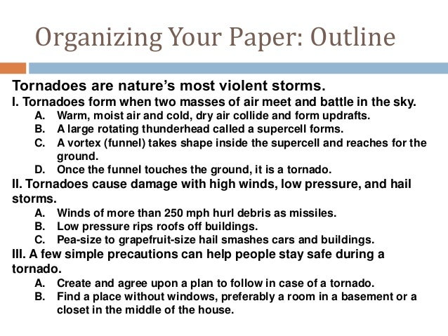 A research paper on tornado