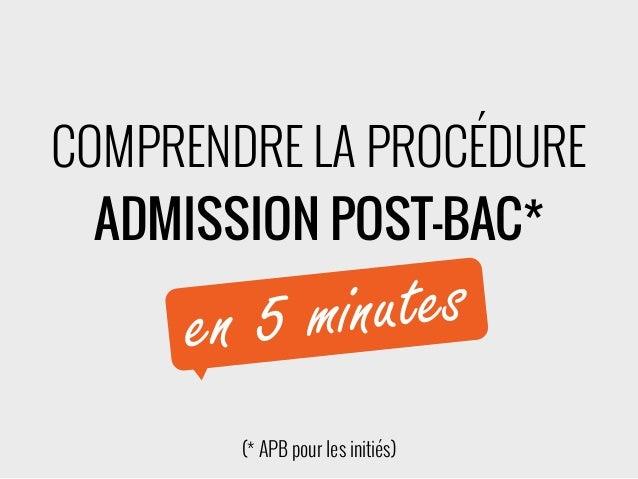 COMPRENDRE LA PROCÉDURE ADMISSION POST-BAC* (* APB pour les initiés) en 5 minutes