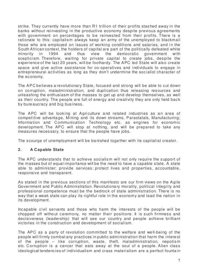 APC 2019 Election Manifesto