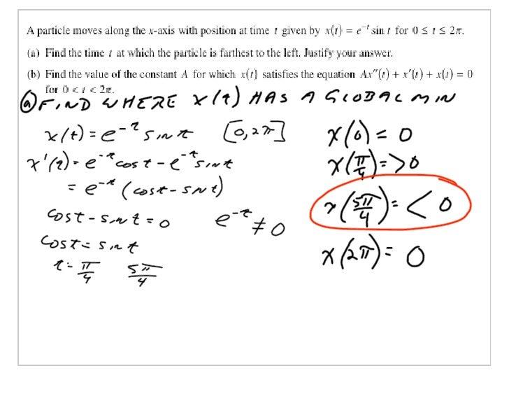 AP Calculus Slides May 16, 2007