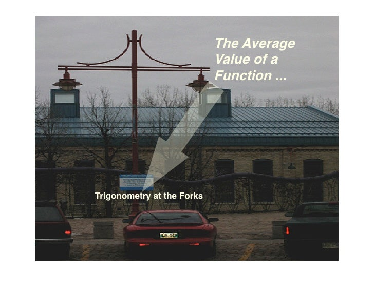 The Average                             Value of a                             Function ...     Trigonometry at the Forks