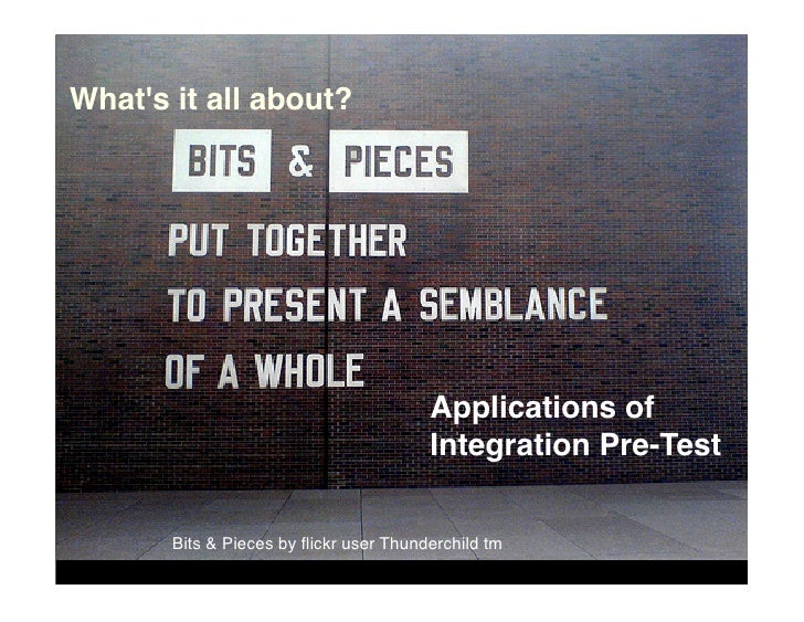 What's it all about?                                             Applications of                                         I...