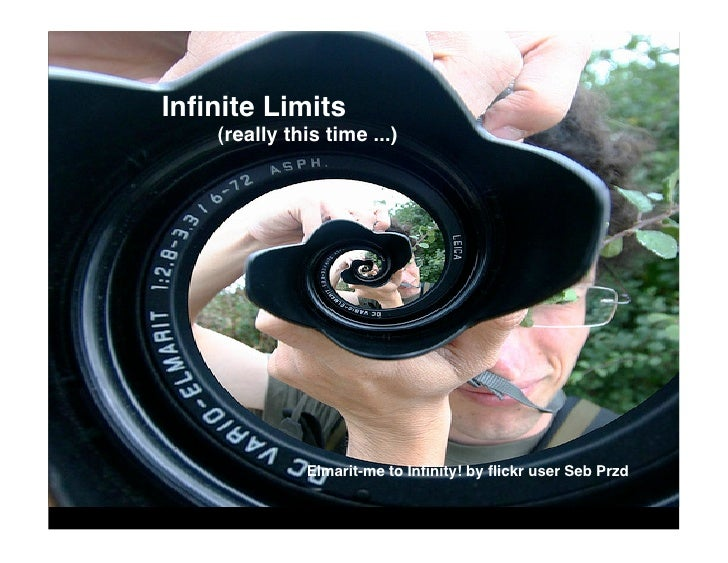 Infinite Limits     (really this time ...)                   Elmarit-me to Infinity! by flickr user Seb Przd