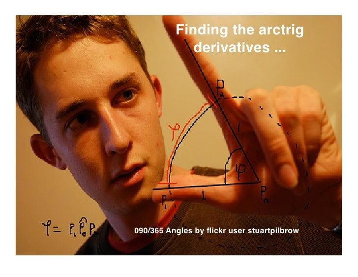 Finding the arctrig              derivatives ...     090/365 Angles by flickr user stuartpilbrow
