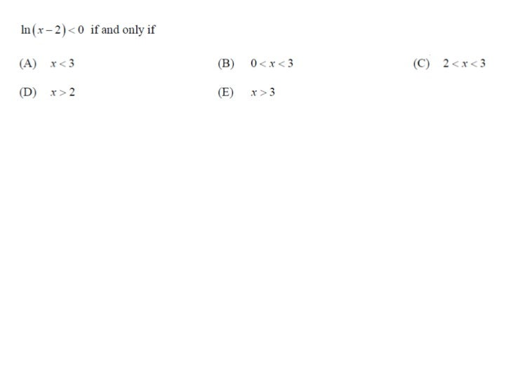 AP Calculus AB 1969 MC Questions