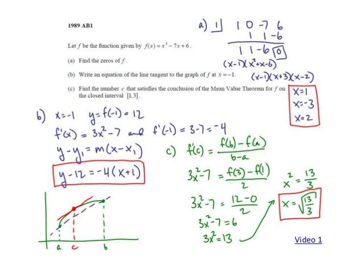 Ap calculus applications of derivatives frq