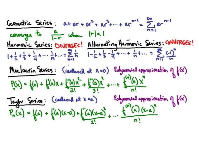 AP Calculus BC Infinite Series Posters