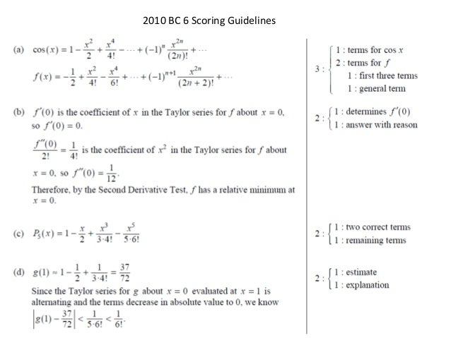 ap calculus bc series frq solutions rh slideshare net I Love Calculus College Calculus