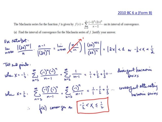 AP Calculus BC Series FRQ Solutions