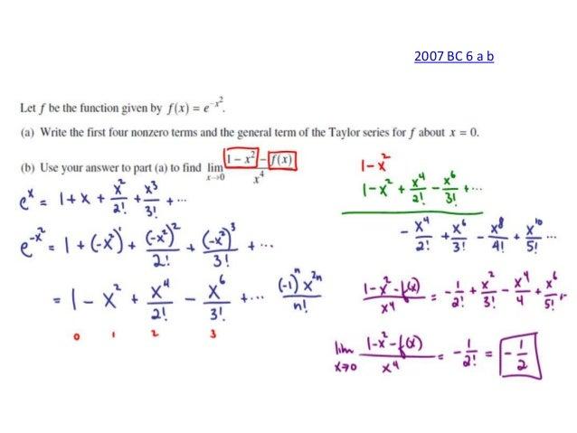 ap calculus bc series frq solutions rh slideshare net Calculus Diagrams AP Calculus Problems
