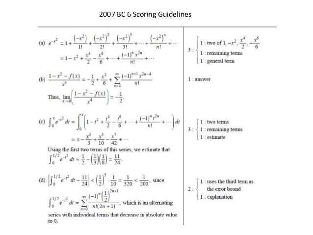ap calculus bc series frq solutions rh slideshare net ab calculus free response 2014 scoring guidelines Calculus BC