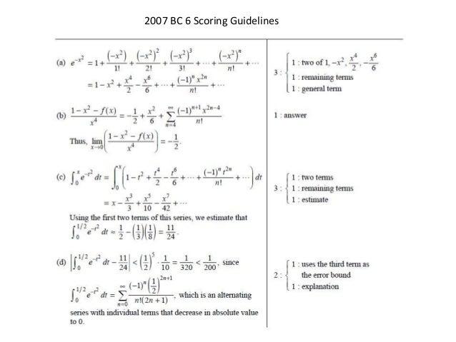 ap calculus bc series frq solutions rh slideshare net ab calculus free response 2014 scoring guidelines Calculus Diagrams