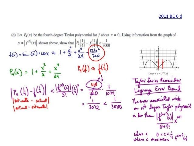 ap calculus bc series frq solutions rh slideshare net ap calculus ab 2013 free response scoring guidelines ab calculus free response 2014 scoring guidelines