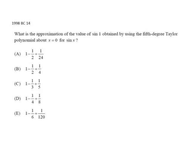 AP Calculus BC Infinite Series Multiple Choice 2 Video 3