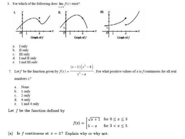 AP Calculus Warm up