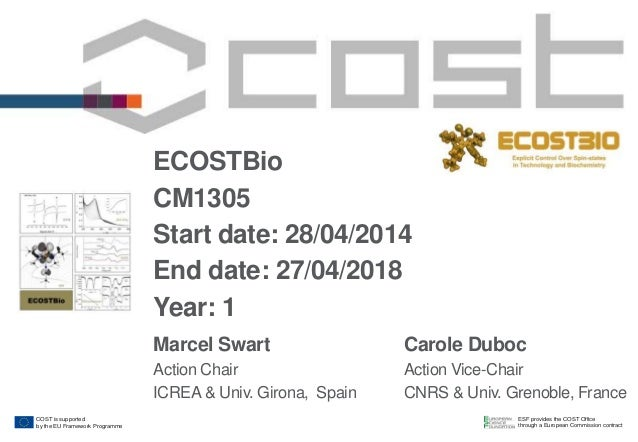 ESF provides the COST Office through a European Commission contract COST is supported by the EU Framework Programme ECOSTB...