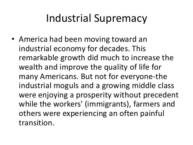 industrial supremacy Industrial supremacy primary source #1 refer back to the section of the chapter under the heading capitalism and its critics the great industrialist andrew.