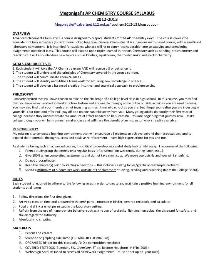 high school course syllabus template