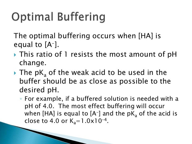 effect of buffering on the resistance of a solution to ph change Ph buffering in aquifers from enviro wiki jump to: navigation maximum resistance to ph change (buffering capacity) occurs when ph equals the dissociation constants of carbonic acid.