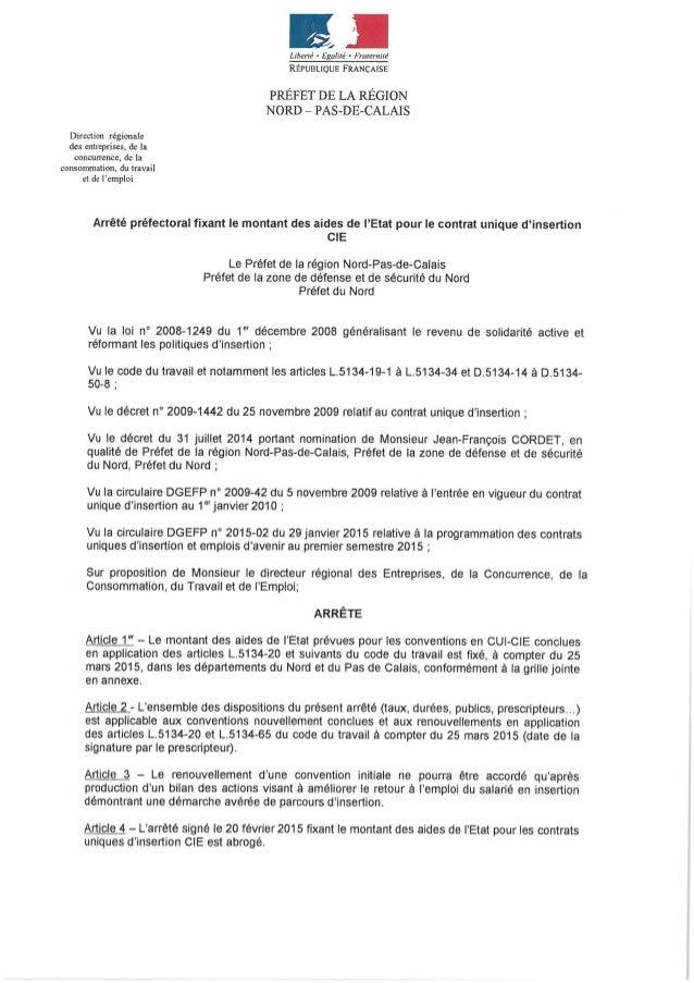 Aide CIE - Pôle Emploi - Embauches à compter du 25 mars 2015