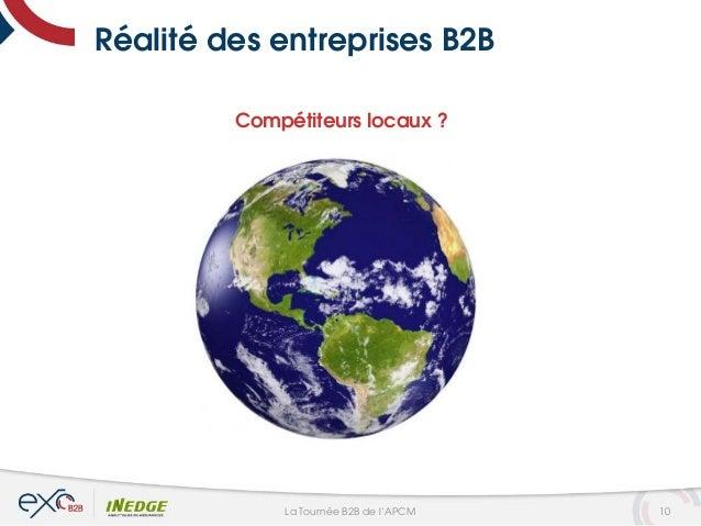 Réalité des entreprises B2B Compétiteurs locaux ? 10La Tournée B2B de l'APCM
