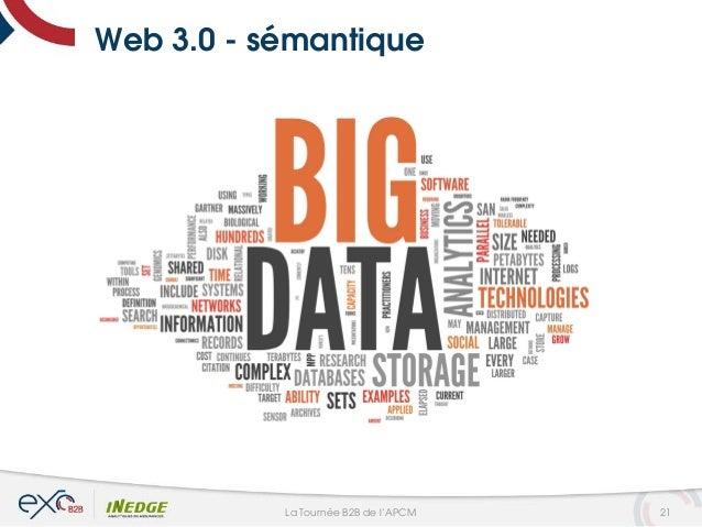 Web 3.0 - sémantique 21La Tournée B2B de l'APCM