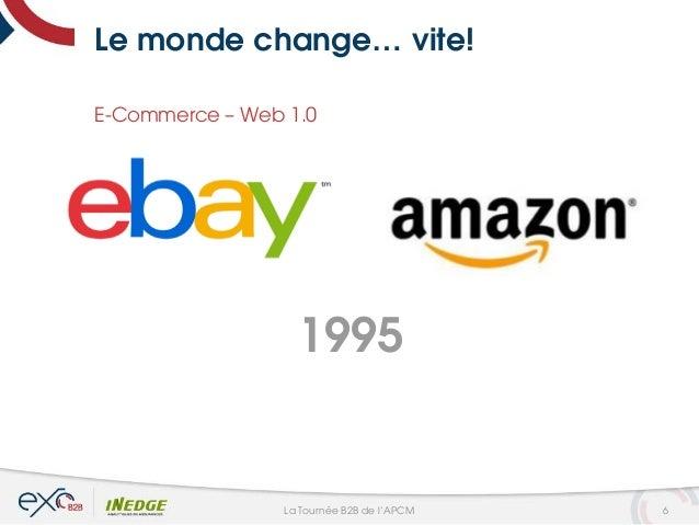 Le monde change… vite! E-Commerce – Web 1.0 1995 6La Tournée B2B de l'APCM
