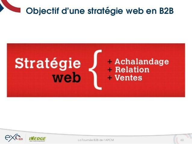 Objectif d'une stratégie web en B2B 63La Tournée B2B de l'APCM