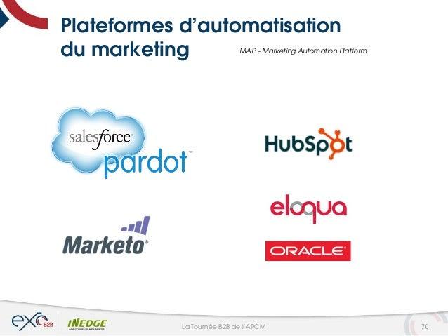 Plateformes d'automatisation du marketing MAP – Marketing Automation Platform 70La Tournée B2B de l'APCM