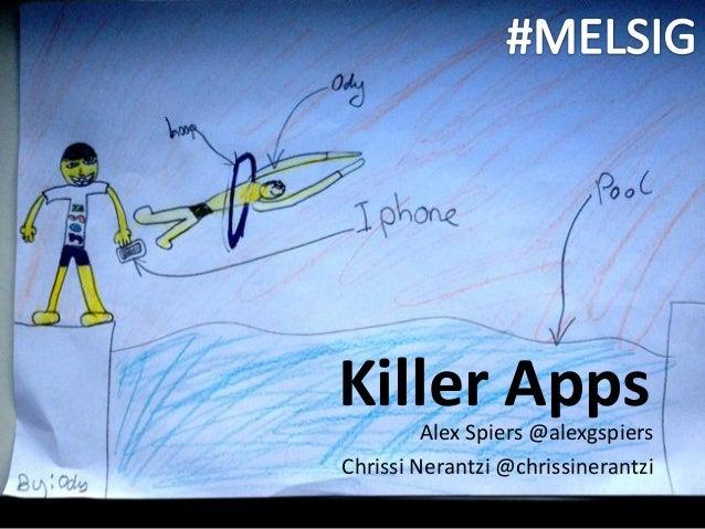 Killer Apps         Alex Spiers @alexgspiersChrissi Nerantzi @chrissinerantzi