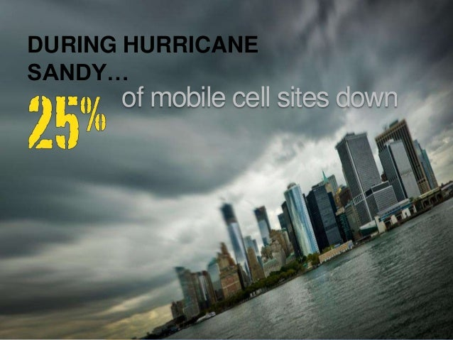© 2013; all rights reservedof mobile cell sites downDURING HURRICANESANDY…