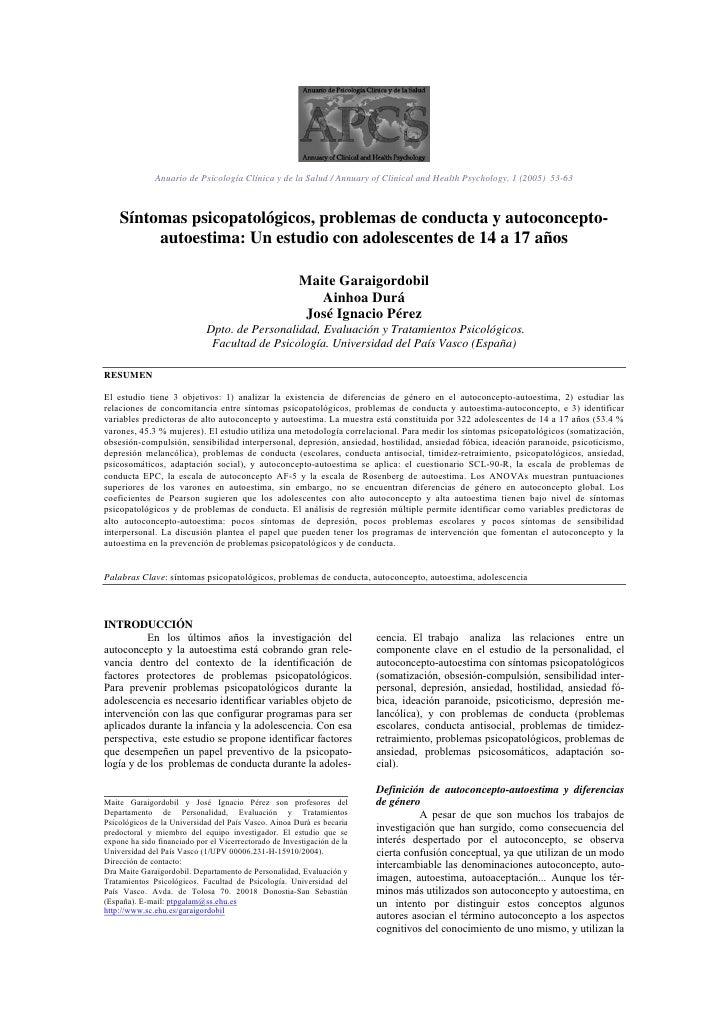 Apcs 1 Esp 53 63 Problemas De Conducta