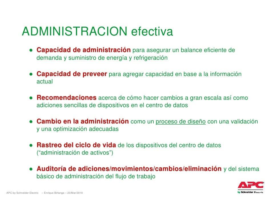 ADMINISTRACION efectiva                  ● Capacidad de administración para asegurar un balance eficiente de              ...
