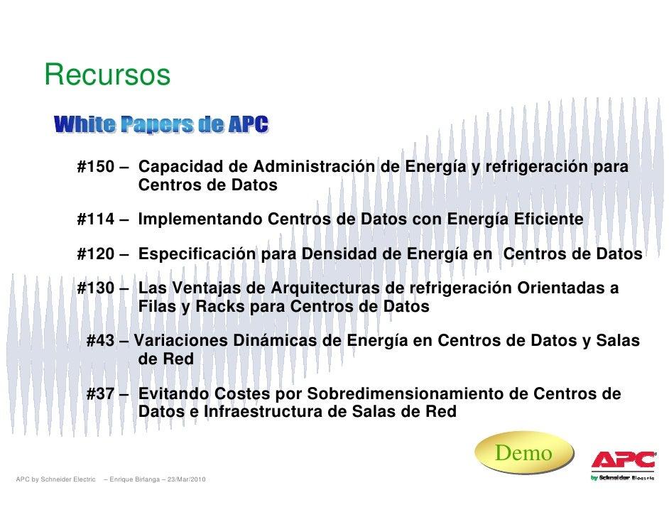 Recursos                     #150 – Capacidad de Administración de Energía y refrigeración para                           ...