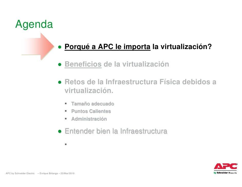 Agenda                                              ● Porqué a APC le importa la virtualización?                          ...