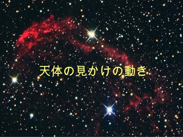 天体の見かけの動き
