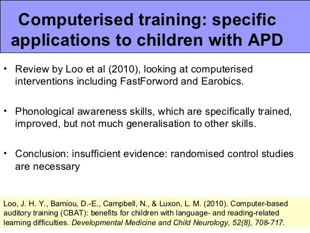 Efficacy of the LiSN & Learn auditory training software ...