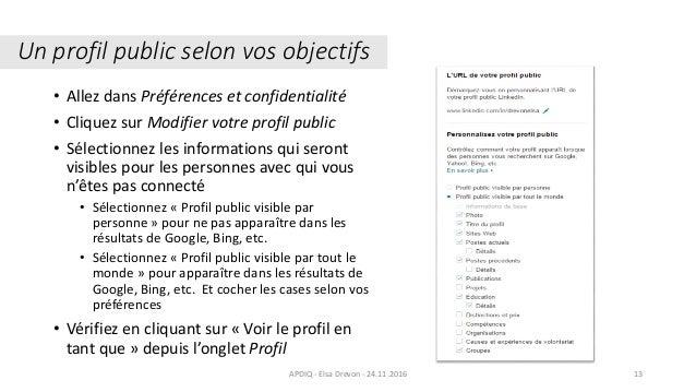 Un profil public selon vos objectifs Crédit : Wikipedia.org. Comète Hall Bopp, 29 mars 199713 • Allez dans Préférences et ...