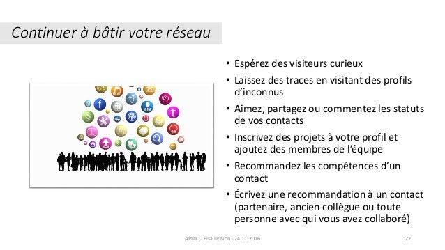 • Espérez des visiteurs curieux • Laissez des traces en visitant des profils d'inconnus • Aimez, partagez ou commentez les...