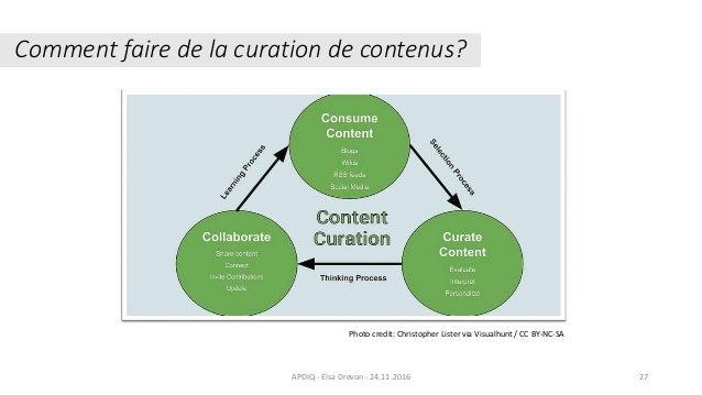 Comment faire de la curation de contenus? 27APDIQ - Elsa Drevon - 24.11.2016 Photo credit: Christopher Lister via Visualhu...