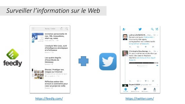 Surveiller l'information sur le Web https://twitter.com/https://feedly.com/