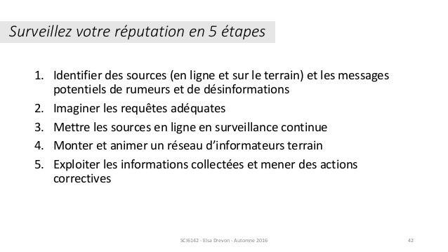 1. Identifier des sources (en ligne et sur le terrain) et les messages potentiels de rumeurs et de désinformations 2. Imag...
