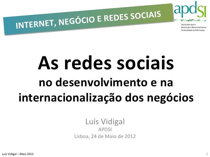 DES SOCIAIS                    INTERNET, NEGÓCIO E RE                                               As redes...