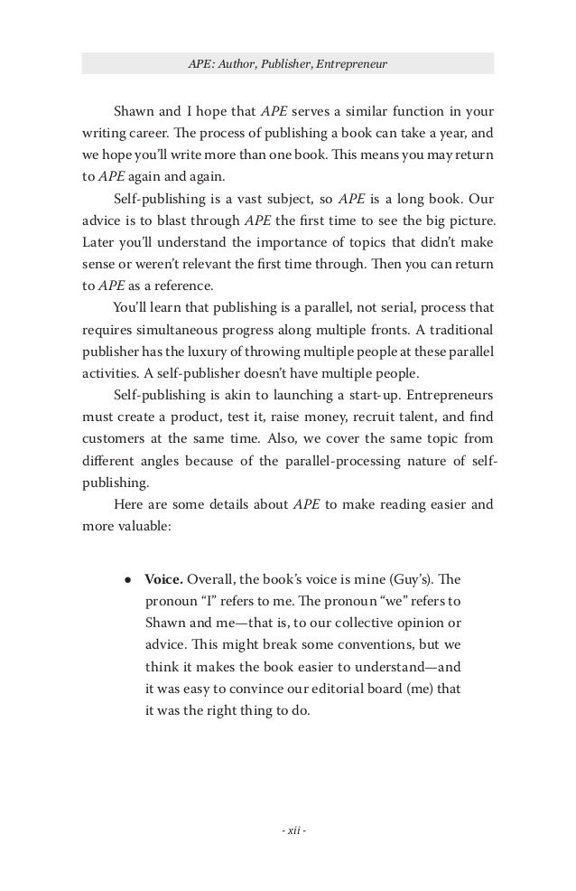 APE How to Publish a Book by Guy Kawasaki