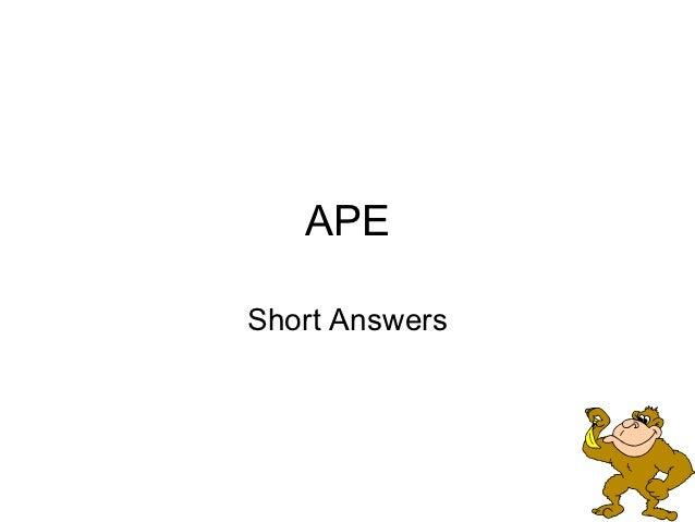 APEShort Answers