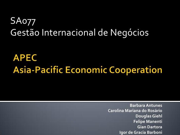 SA077 Gestão Internacional de Negócios                                       Barbara Antunes                       Carolin...