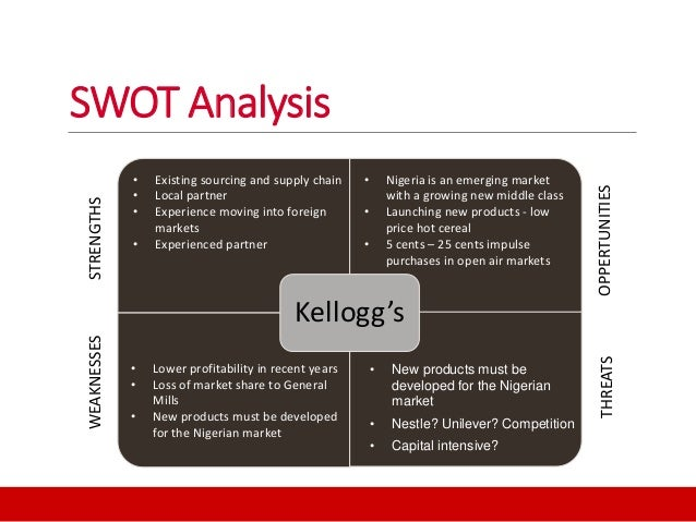 Kelloggs SWOT Analysis, Competitors & USP