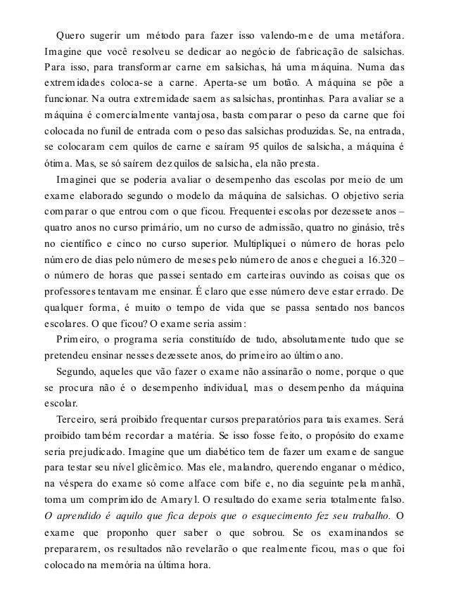A pedagogia dos caracois rubem alves fandeluxe Choice Image
