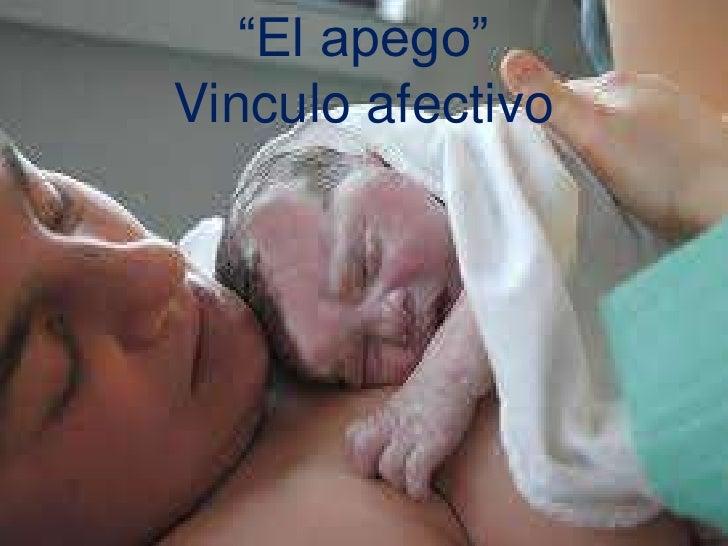 """""""El apego""""<br />Vinculo afectivo<br />"""