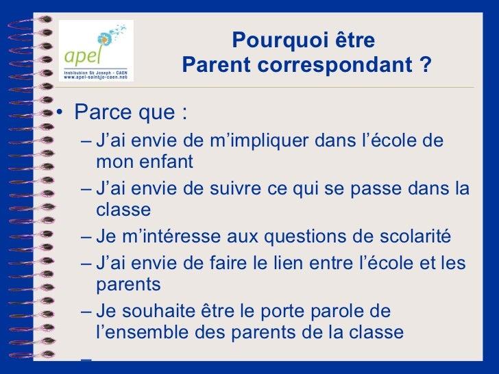 Apel   le parent correpondant - v2011 Slide 3